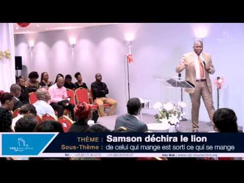 Samson déchira le lion